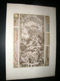 Racinet Ornament 1874 Folio Antiqu Print. 18th Century #1